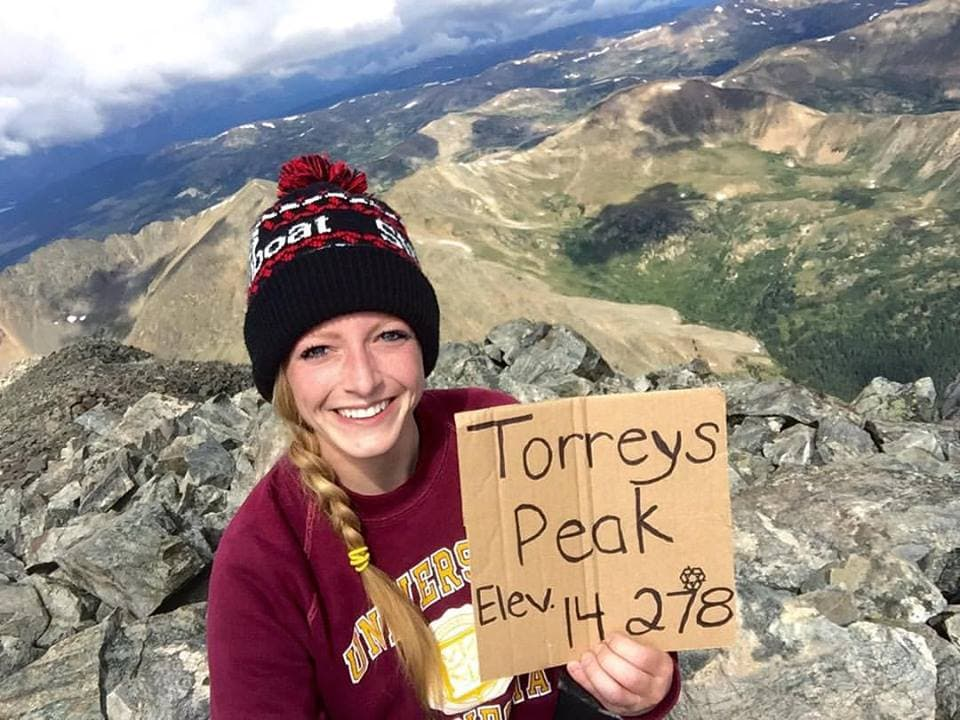 Torreys and Grays Peak are two 14ers that have trails that begin at the same trailhead. This is a picture at the top of Torreys Peak in the Front Range.