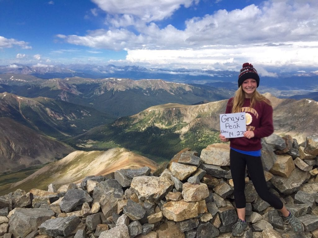 Grays Peak is one of the easiest 14ers to hike in Colorado. Here is a picture at the summit of the mountain.