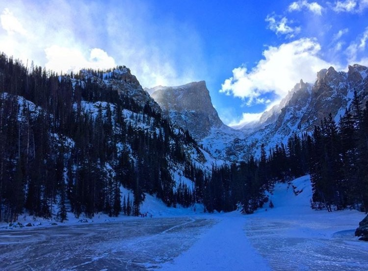 Estes Park Hiking in Winter