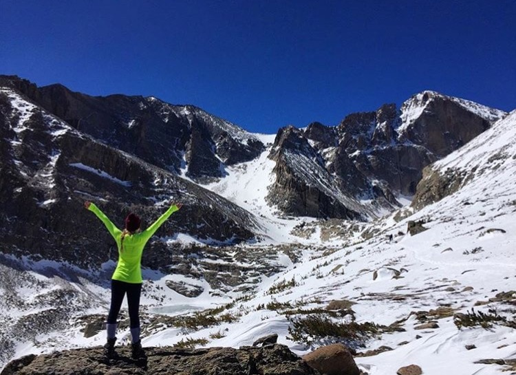 Hiking to Chasm Lake in the Winter - Best Winter Hikes in Colorado