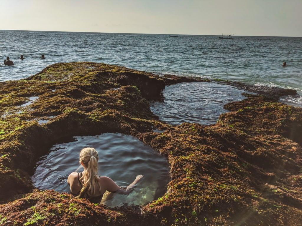 Tegal Wangi natural pools hidden beach in Bali