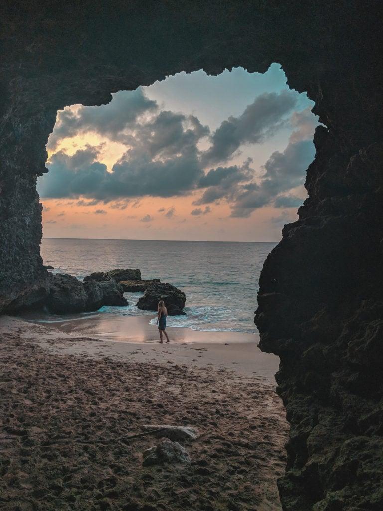 Tegal Wangi Beach Cave and Natural Pools hidden gem in Bali, Indonesia