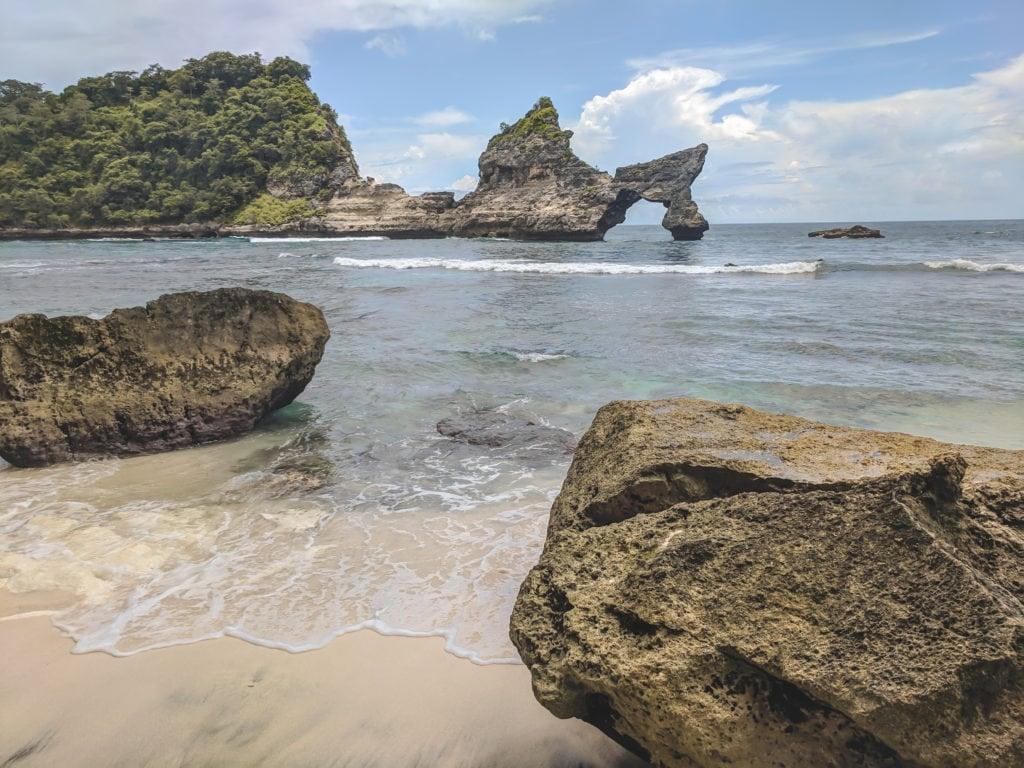 Hidden beach in Bali. Atuh beach on Nusa Penida