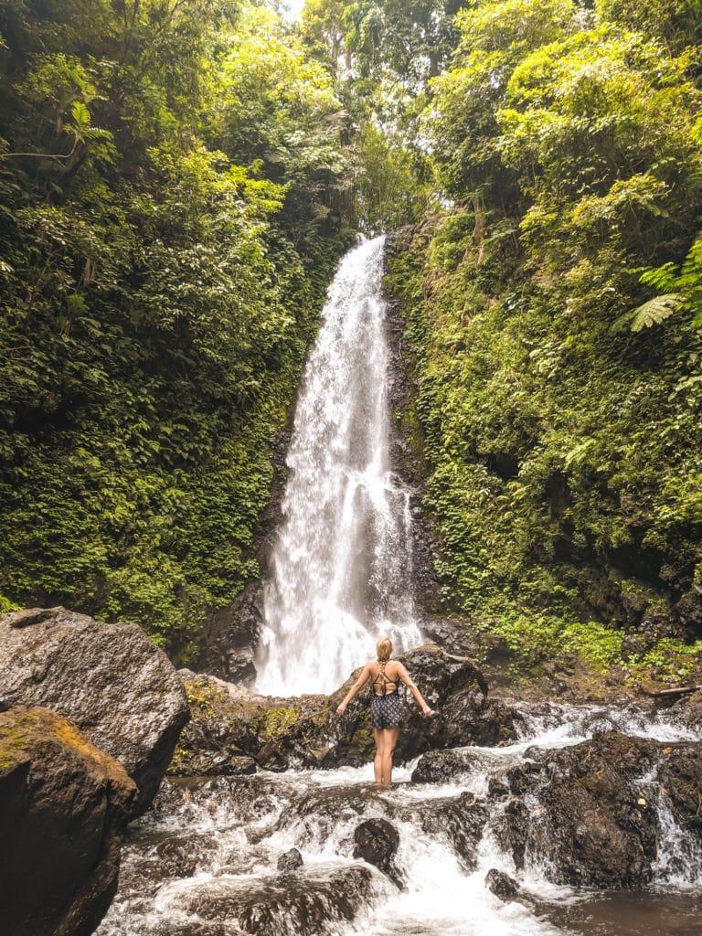 Melanting waterfall in northern Bali