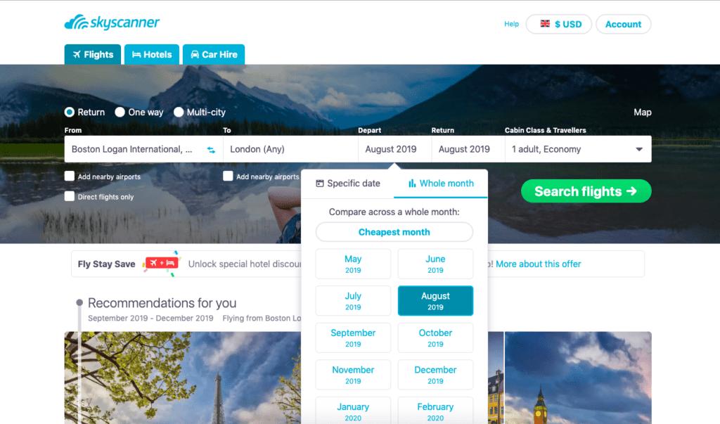 Skyscanner, the Best Website for Cheap Flights