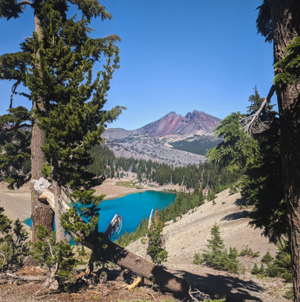 A view of South Sister from Moraine Lake. The best summer adventure for in Central Oregon for avid hikers.