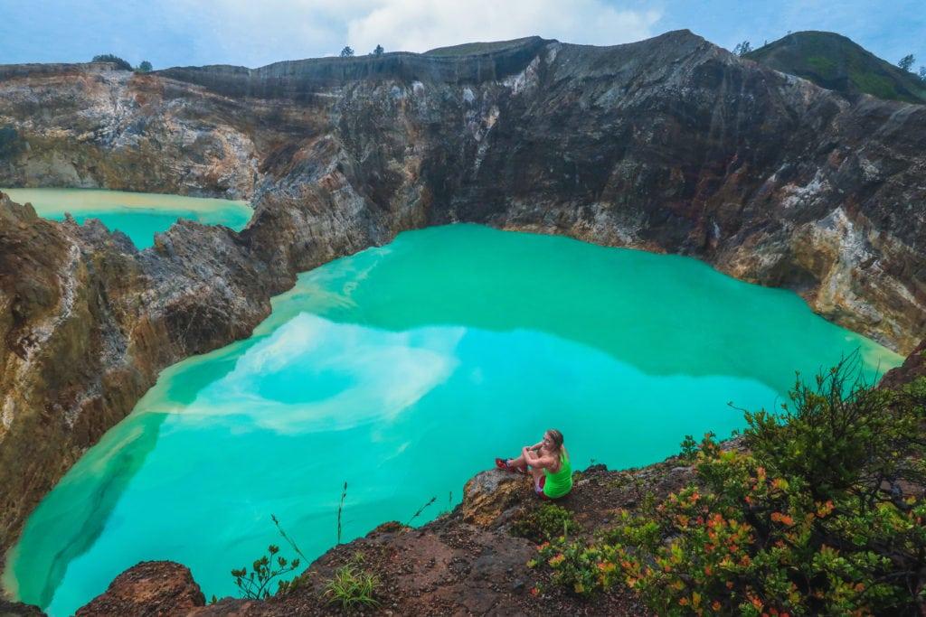 Volcanic Lakes in Moni, Indonesia - Flores Island