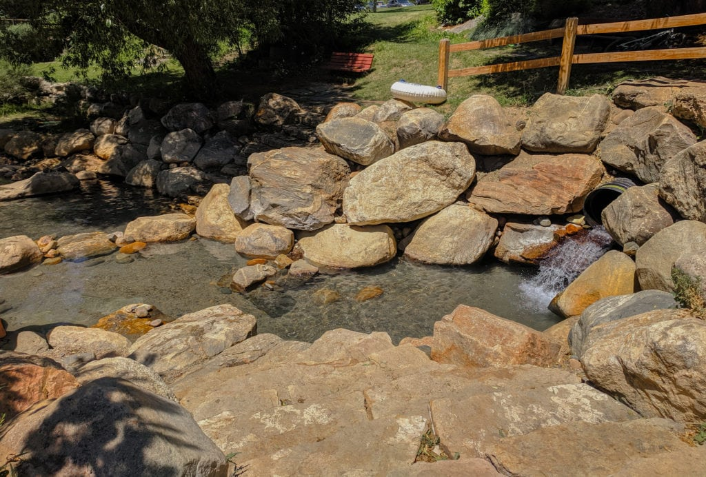 Hippie hot springs is a local's favorite located in downtown Steamboat Springs.