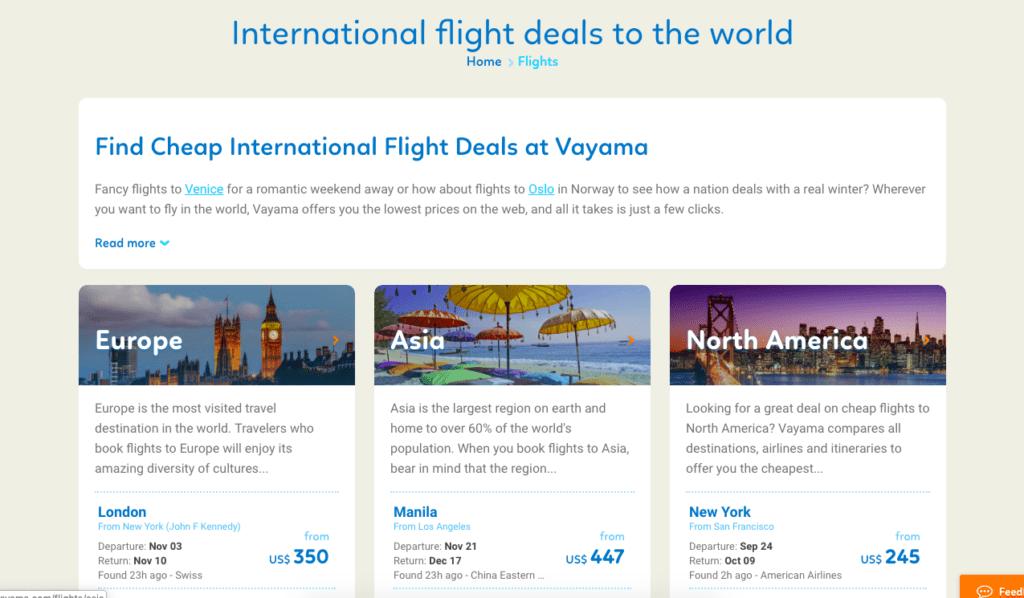 Another notable travel aggregator, Vayama