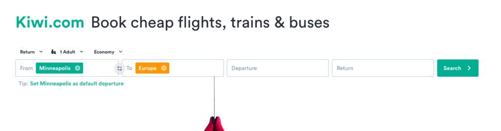 One of the best travel aggregators for cheap flights is Kiwi.com
