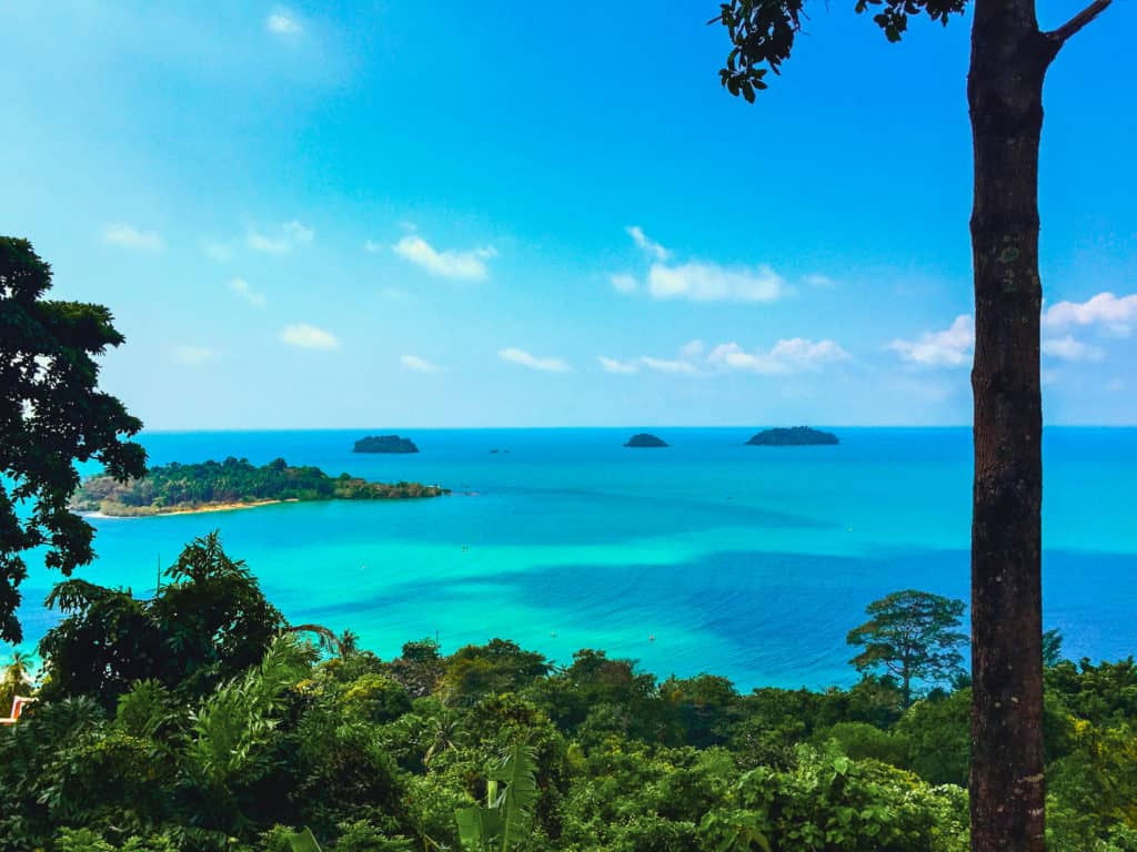 An Overwater View of Koh Chang in Thailand.