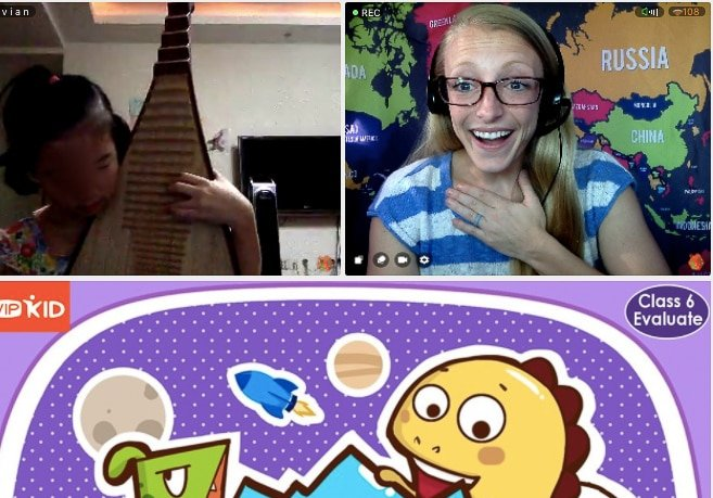 My VIPKID Student Playing Me A Song On The Pipa