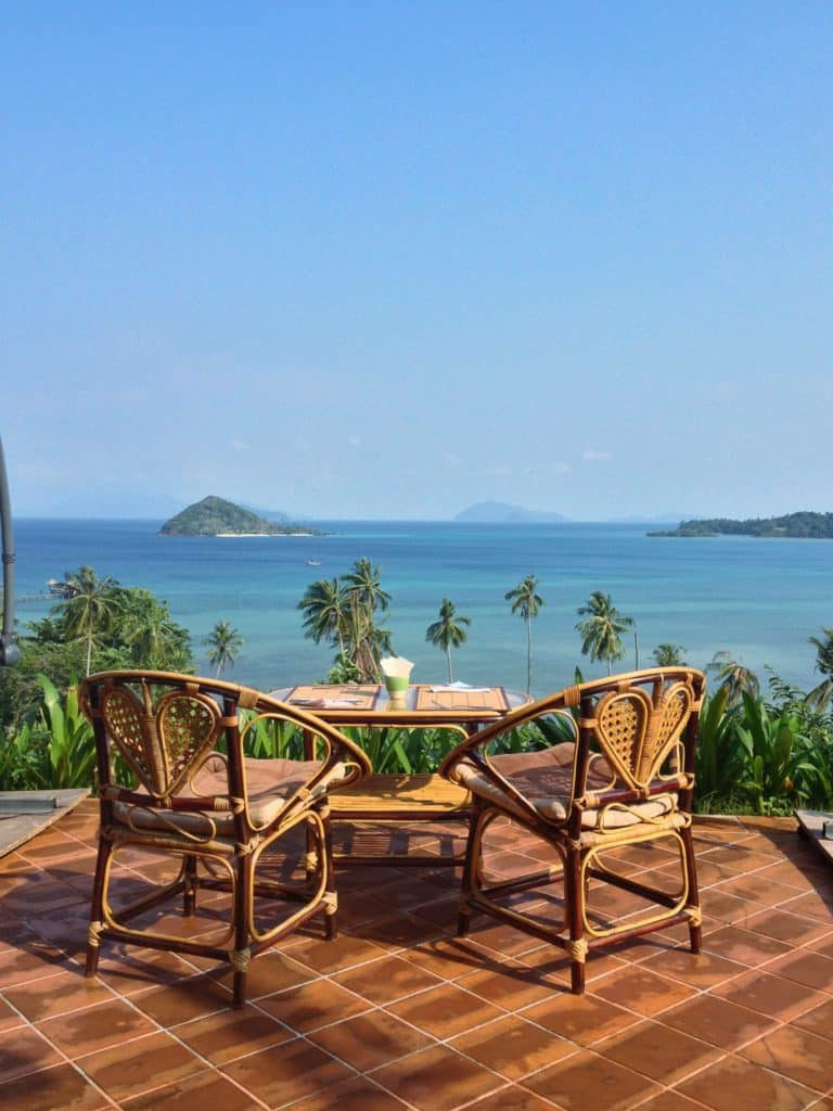 Koh Mak, Thailand View of The Ocean From A Breakfast Table.