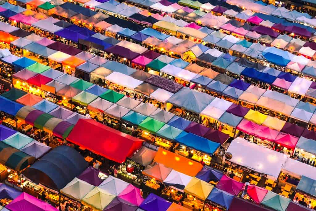 Bangkok, Thailand weekend market