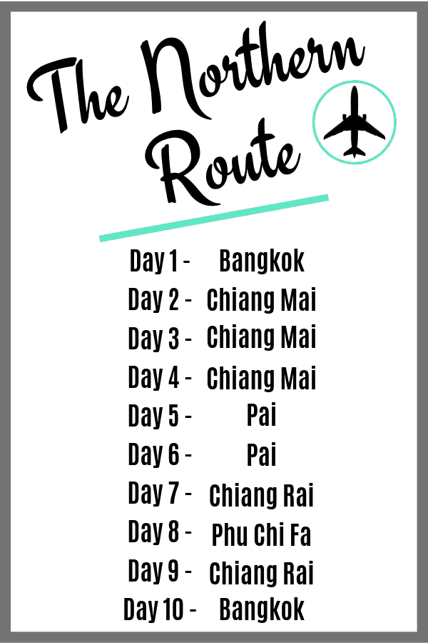 Thailand Itinerary 10 Days - The Northern Route