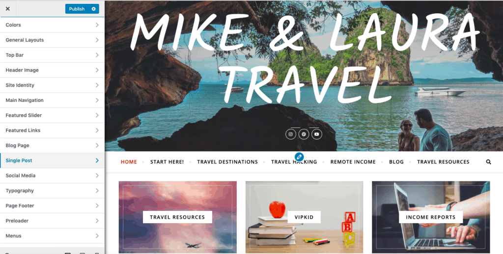 Customize Your Travel Blog