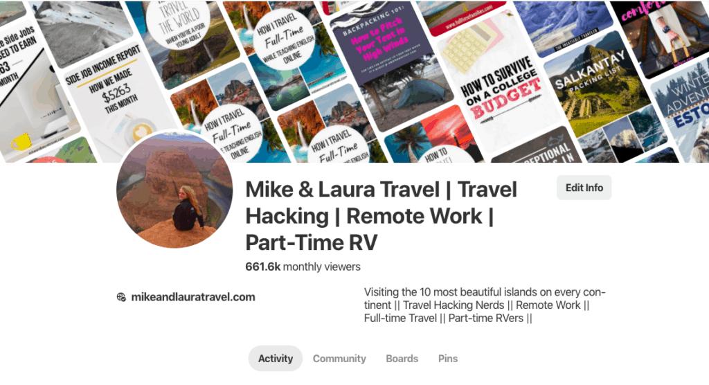 Pinterest for Travel Blog Traffic