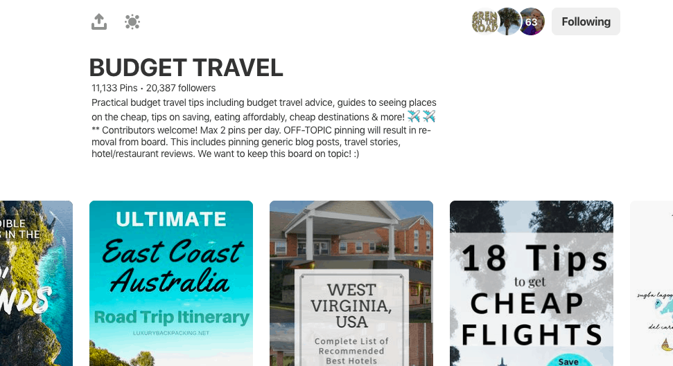 Joining Group Boards on Pinterest for Travel Bloggers