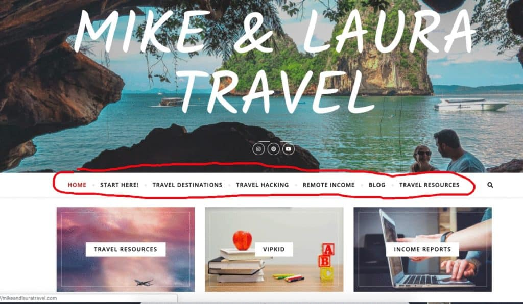 Create Menus for Your Travel Blog - WordPress