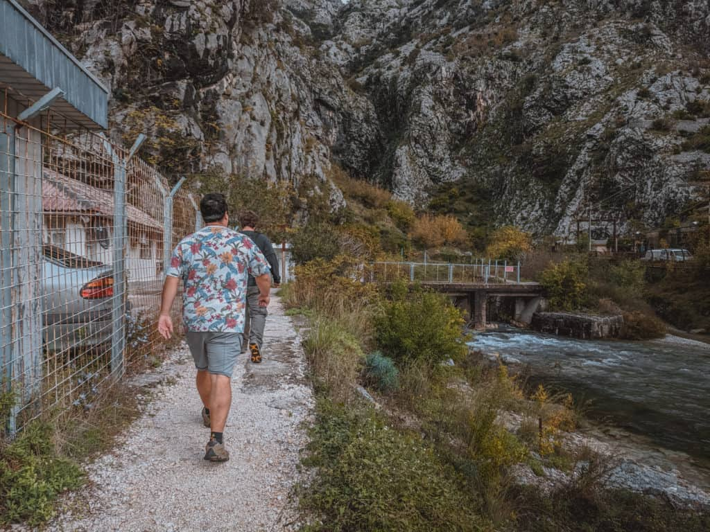 The Trailhead of the Ladder of Kotor