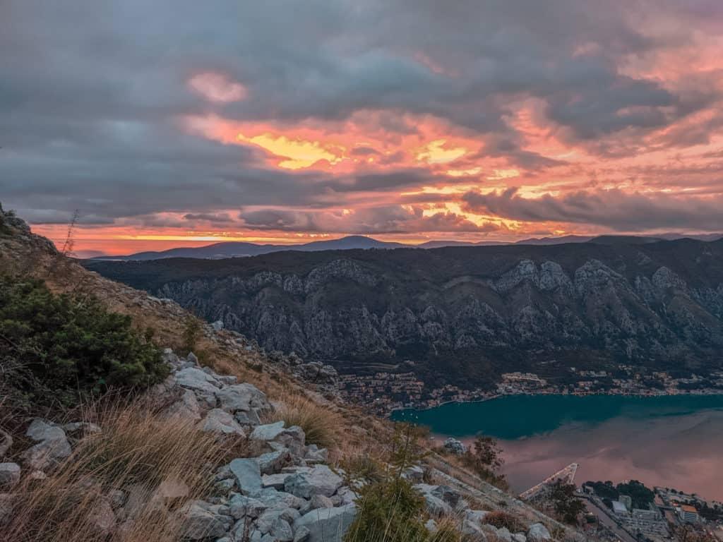 Sunset on Boka Bay