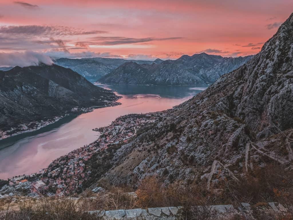 Sunset on the Ladder of Kotor