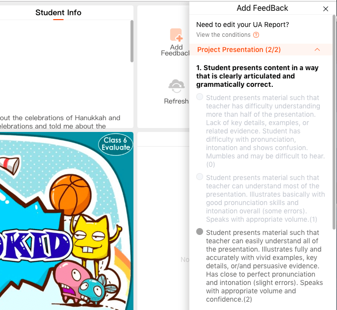 Student VIPKID Project Not Complete