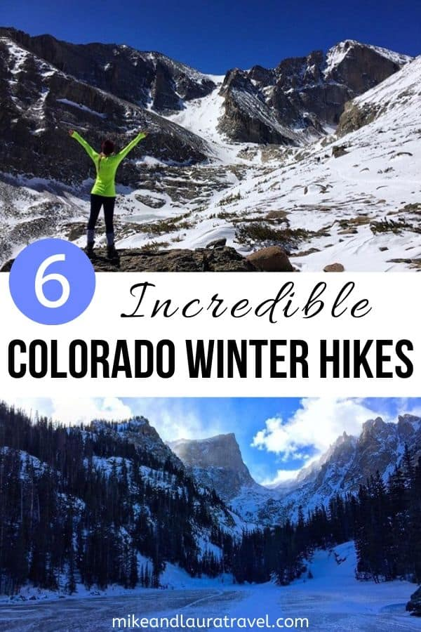 Winter Hikes in Colorado -Save to Pinterest for Later