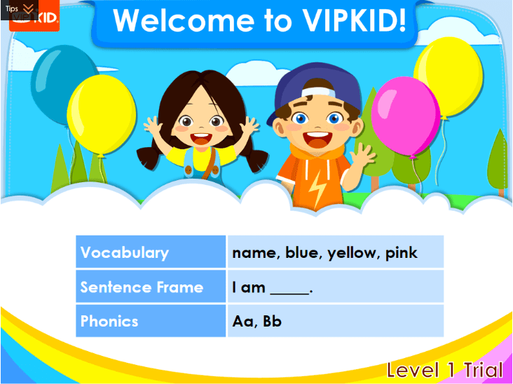 VIPKID Trial Class Level 1