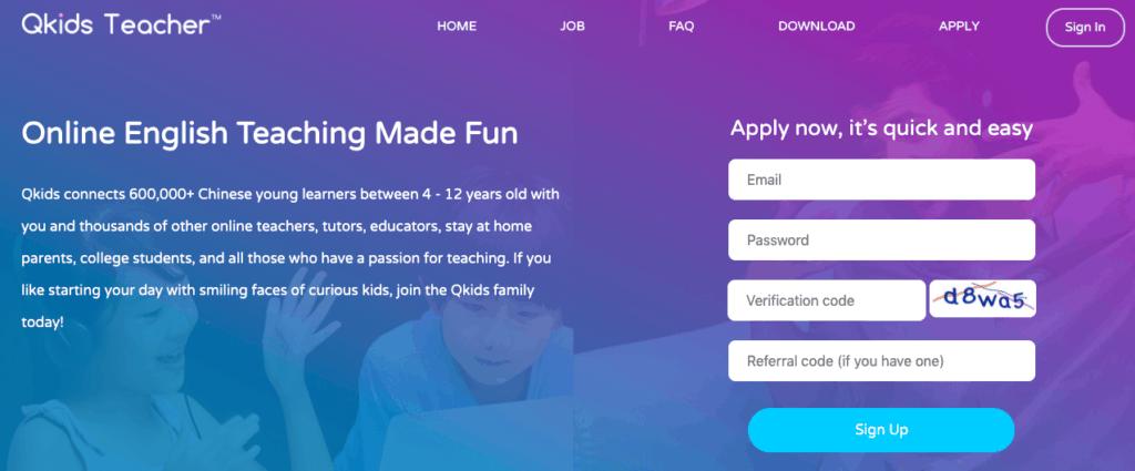 QKids: Teach English Online