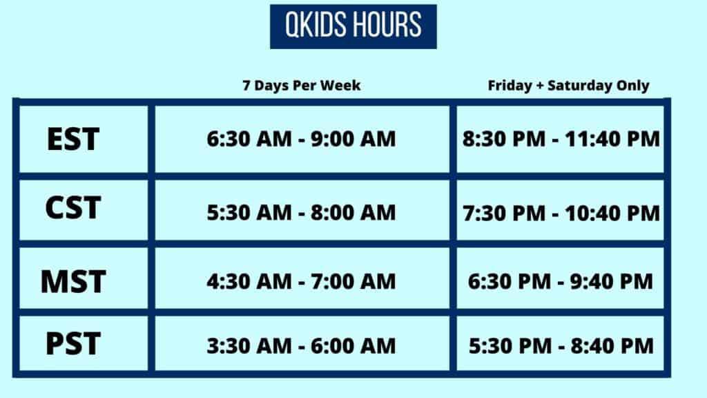 Qkids Hours