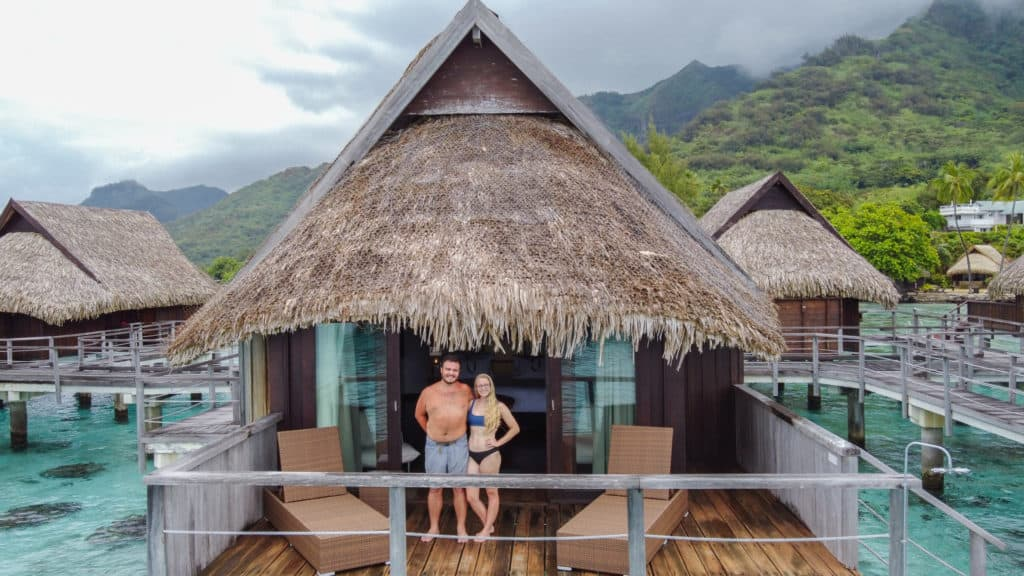 Staying in an overwater bungalow is a must while visiting the French Polynesia. This overwater bungalow was at the Sofitel, which we highly recommend.