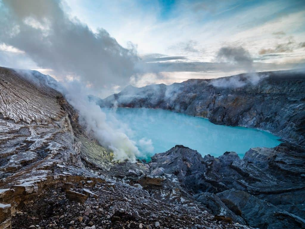 The view from the top of Mt Ijen before descending into the crater.