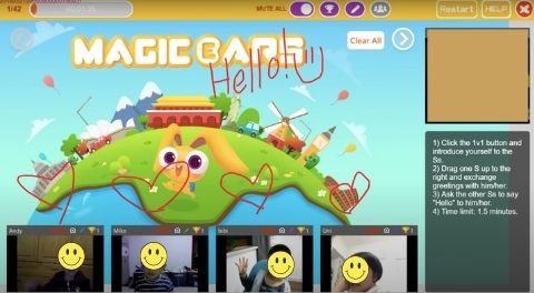 Magic Ears Classroom. This platform is different than other online English teaching companies in that you'll teach up to four students at a time.