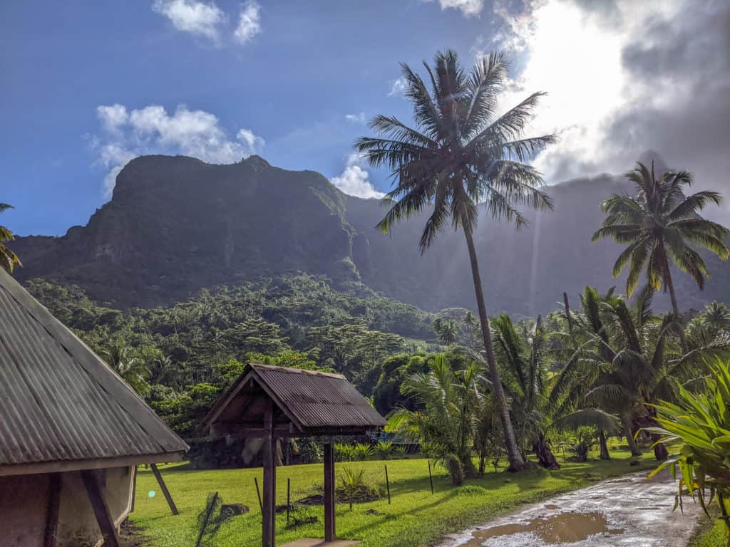 One of the best things to do in Moorea is ride around the entire island on a motorbike. Here is just one of the views you'll see during your journey.