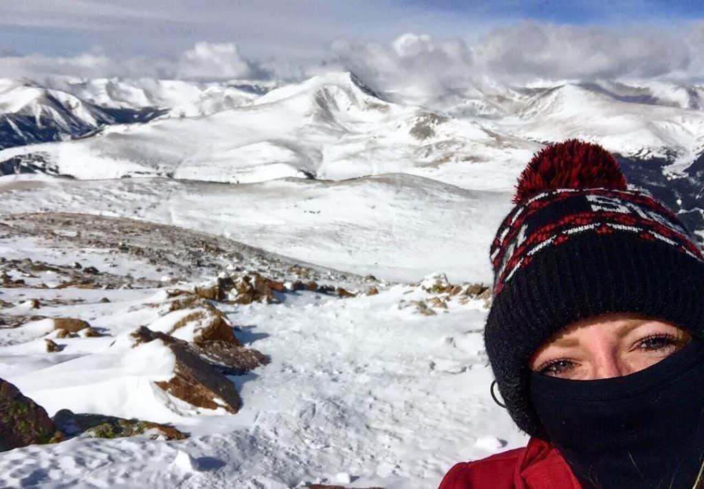 Summiting Mount Bierstadt in the Winter