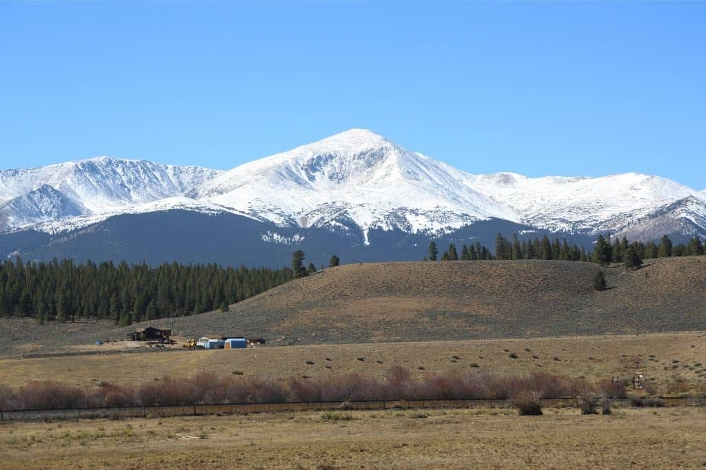 The tallest mountain in Colorado: Mount Elbert on a sunny day.