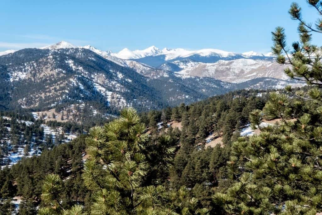 A view from the top of Mount Sanitas in Boulder