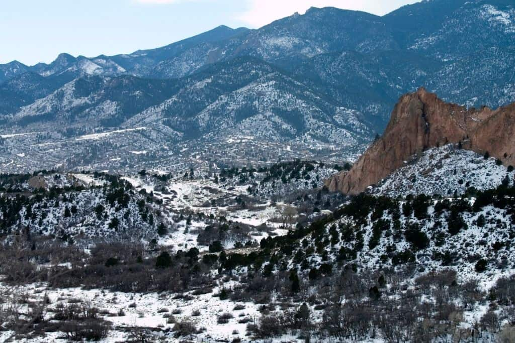 Manitou Springs is a great place for hiking in both summer and winter months.
