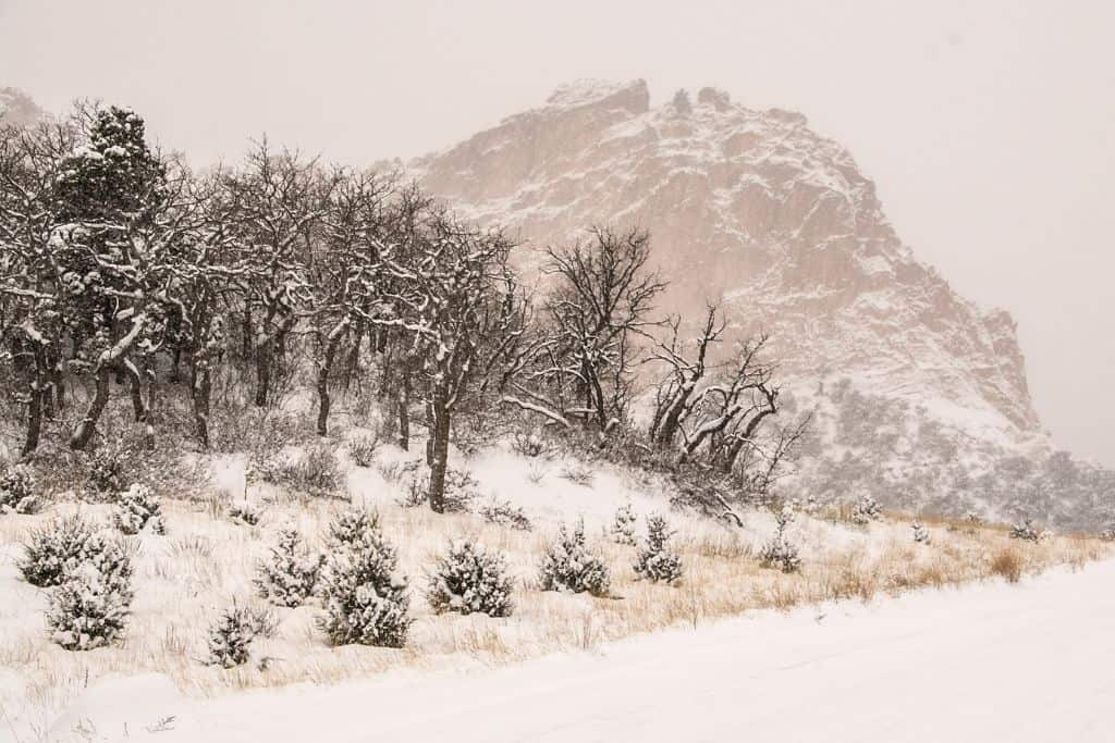 Driving to any trailhead in Colorado in the middle of the winter is dangerous. Be sure to check road conditions before leaving.