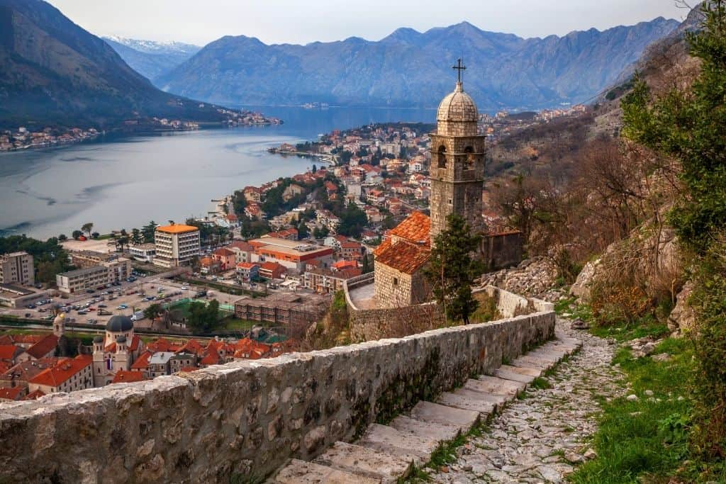 A view of Kotor, Montenegro from the Fortress Walls