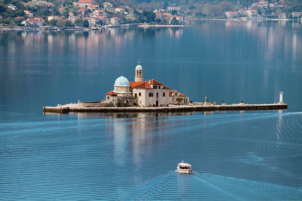 Our Lady of the Rocks is an excellent day trip from Kotor, just down the street in Perast, Montenegro