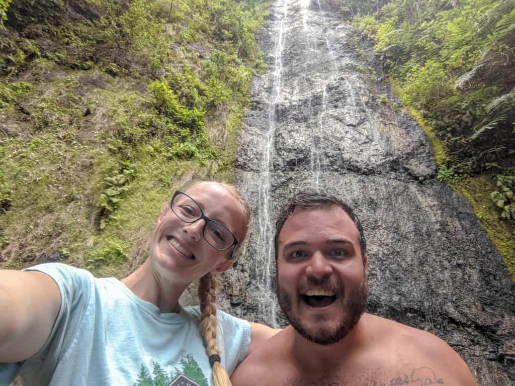 Afareaitu Waterfalls on Moorea.