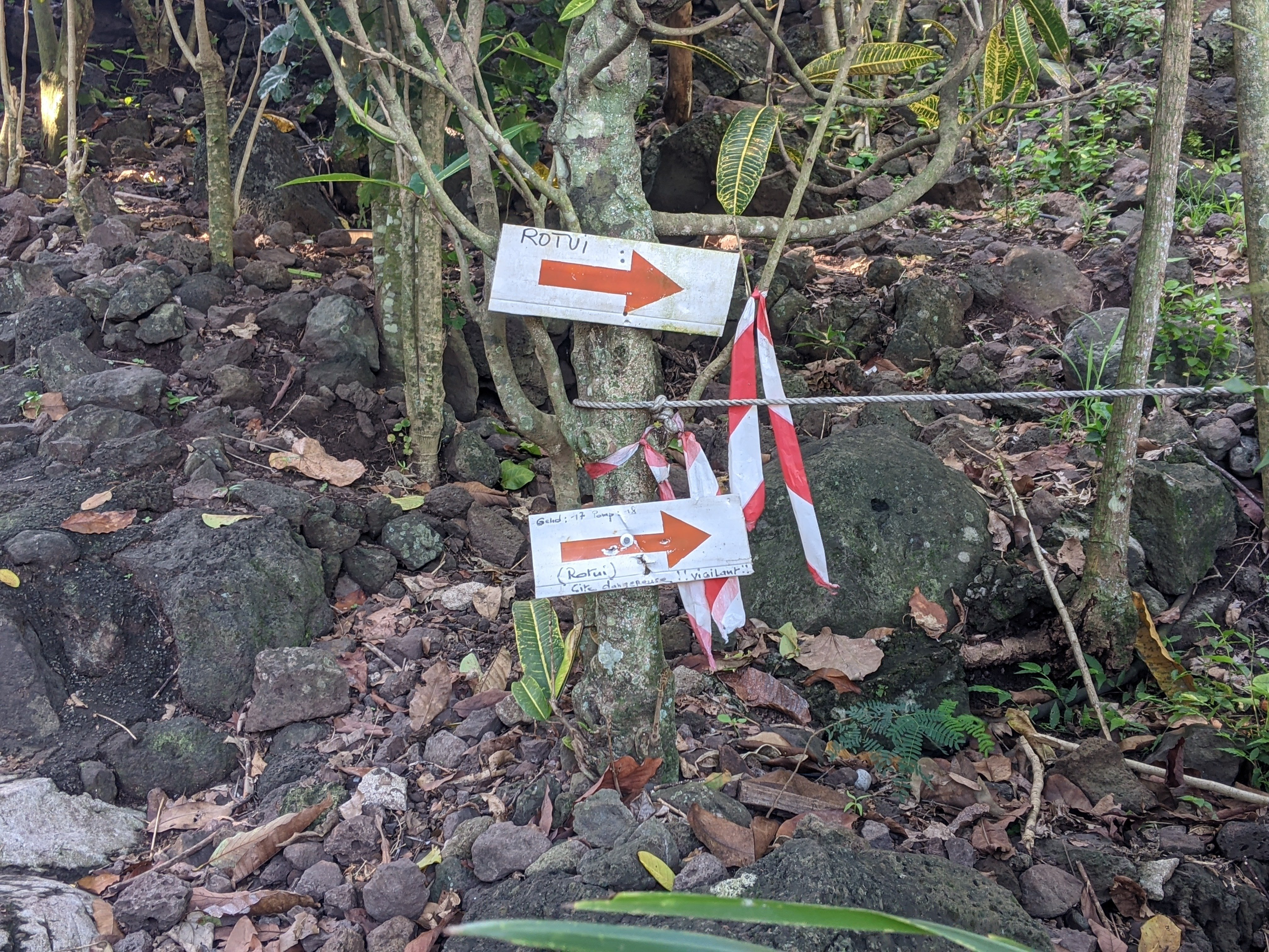 More Signs Leading To Mount Rotui in Moorea. One Of The Best Hiking Trails.