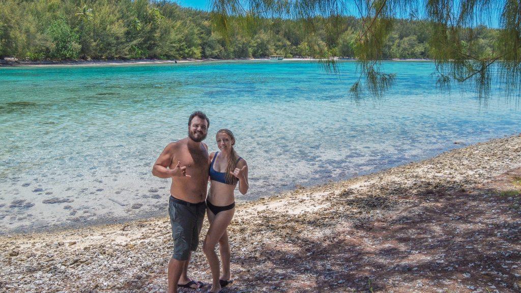 Coco Beach on Motu Tiahura in French Polynesia.