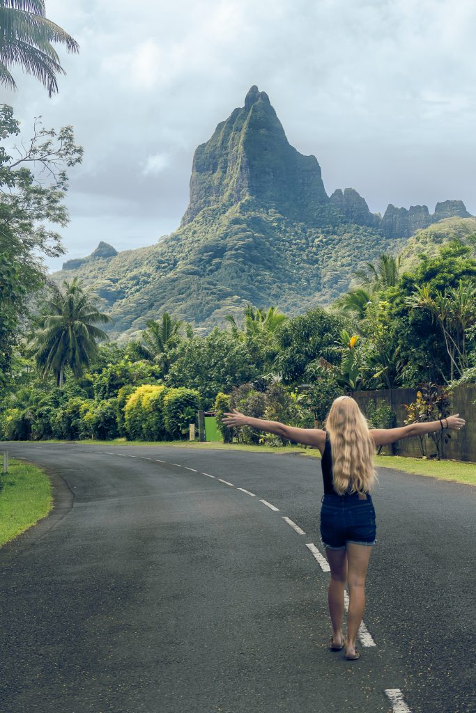 Watching Down The Road In Cook's Bay Moorea