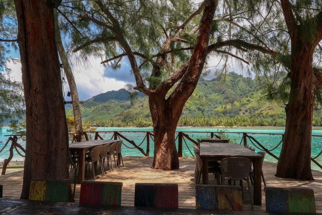 A View of the Ocean From Coco Beach Restaurant in Moorea