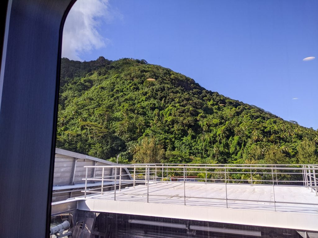 A View of Moorea From The Tahiti Ferry Aremiti