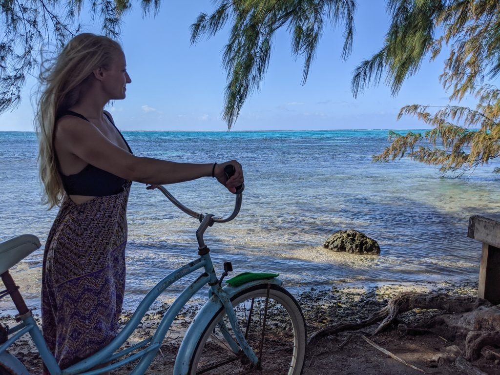 Bike On The Beach In Moorea
