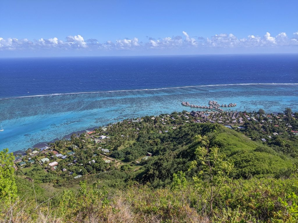 View of The Hilton From Mount Rotui In Moorea